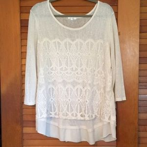 Maurices- white lace top